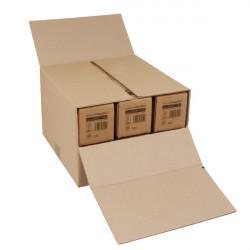 Caisse de regroupement étuis bouteilles Double cannelure 375 x 365 x 125 à 250 mm
